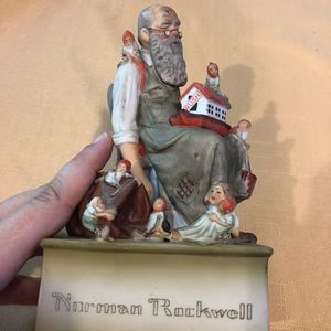 Other - Normal Rockwell music figurine, used w chip on it